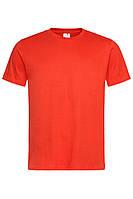 Футболка Stedman Classic Men мужская хлопковая 155 г/м2 красно-оранжевая, S-XXL, от 10 шт