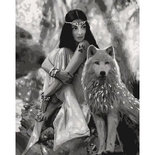 "Картина по номерам ""Волчица"" ★★★★ КНО4139"