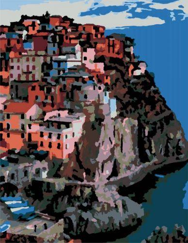 "Картина по номерам ""Италия, г. Манарола"" ★★☆ N00013170"