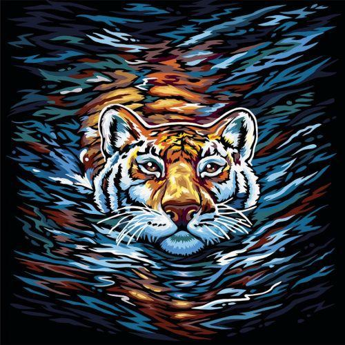 "Картина по номерам ""Тигр"" укр KpN-02-01U,02U,03U,...10U"