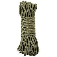 Веревка 7мм 15м MFH темно-зеленая (олива)
