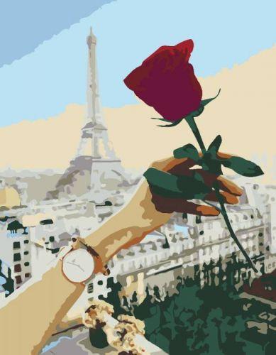 """Картина по номерам """"Роза"""" ★★☆ N00013350"""
