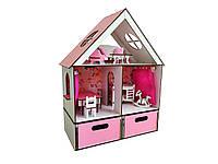 Кукольный домик для кукол ЛОЛ LOL LITTLE FUN c мебелью, текстилем и боксом для игрушек FANA 40х20х50 см (2114)