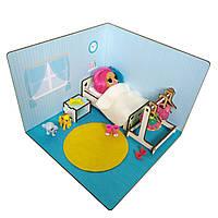 Кукольная мебель LOLBOX для кукол в кукольный домик - Набор Спальня для кукол ЛОЛ LOL с декором FANA (6202)