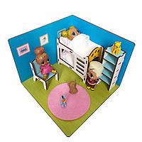 """Кукольная мебель с текстилем LOLBOX для кукол ЛОЛ LOL в кукольный домик - Набор """"Детская комната"""" FANA (6203)"""