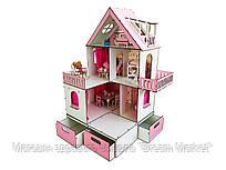 Кукольный домик для кукол ЛОЛ LOL Солнечная Дача с мебелью, текстилем и боксом для игрушек FANA (2108)