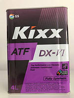 Масло для АКПП/ГУР KIXX ATF DX-VI 4л