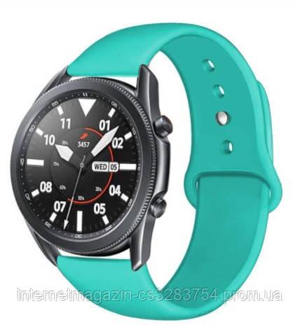Ремешок BeWatch для Samsung Galaxy Watch 42mm   Galaxy Watch 3 41 mm силиконовый 20мм Мятный (1010397)