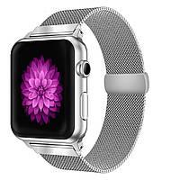 Ремешок BeWatch миланская петля Apple Watch 42мм / 44мм Серебристый (1060518), фото 1