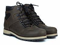 Коричневі черевики шкіряні зимова чоловіча взуття на хутрі Rosso Avangard Indi Jone 21ST Brown