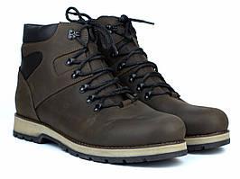 Коричневые ботинки кожаные зимняя мужская обувь на меху Rosso Avangard Indi Jone 21ST Brown