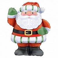 Фольгированный шар Санта/Дед Мороз веселый  90 см