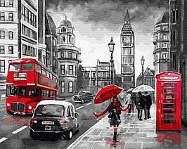Картина за Номерами Дощовий Лондон 40х50см RainbowArt