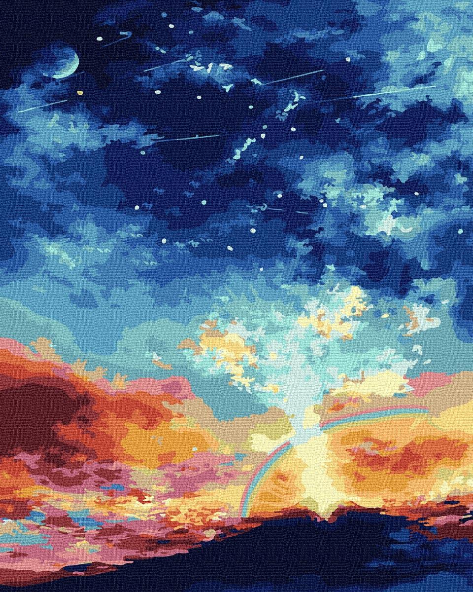 Картина за Номерами Небо над вулканом 40х50см RainbowArt