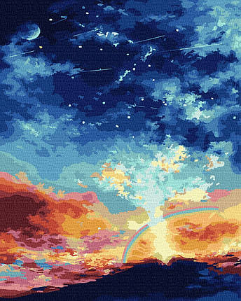 Картина за Номерами Небо над вулканом 40х50см RainbowArt, фото 2