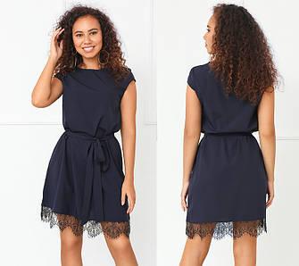 Летнее элегантное платье женственное с кружевом