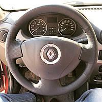 Чехол-оплетка из натуральной кожи на руль Renault Logan 1,Sandero/Clio, Lada , Nissan Almera