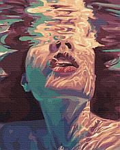 Картина за Номерами Дівчина у воді 40х50см RainbowArt