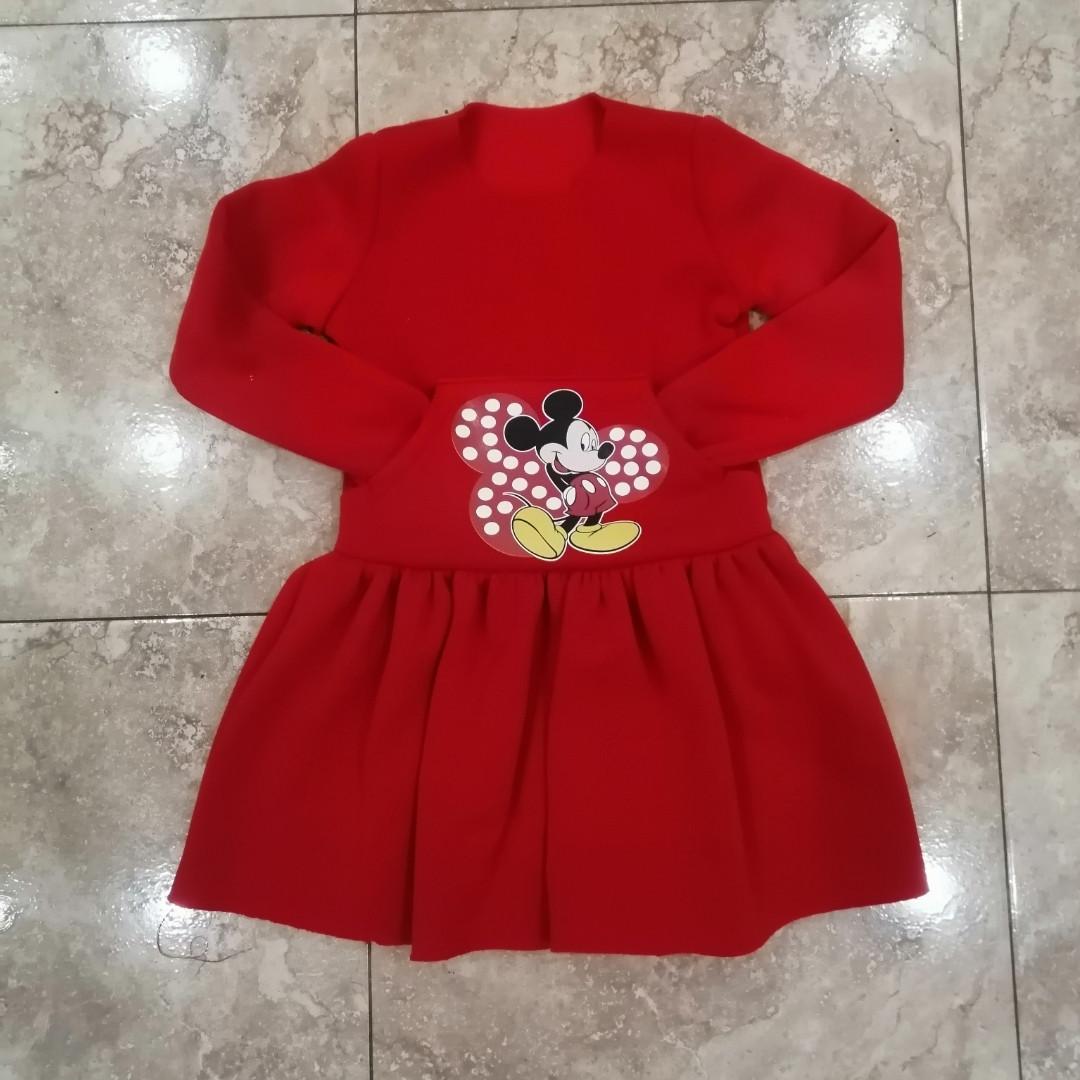 Теплу сукню з начосом для маленької дівчинки