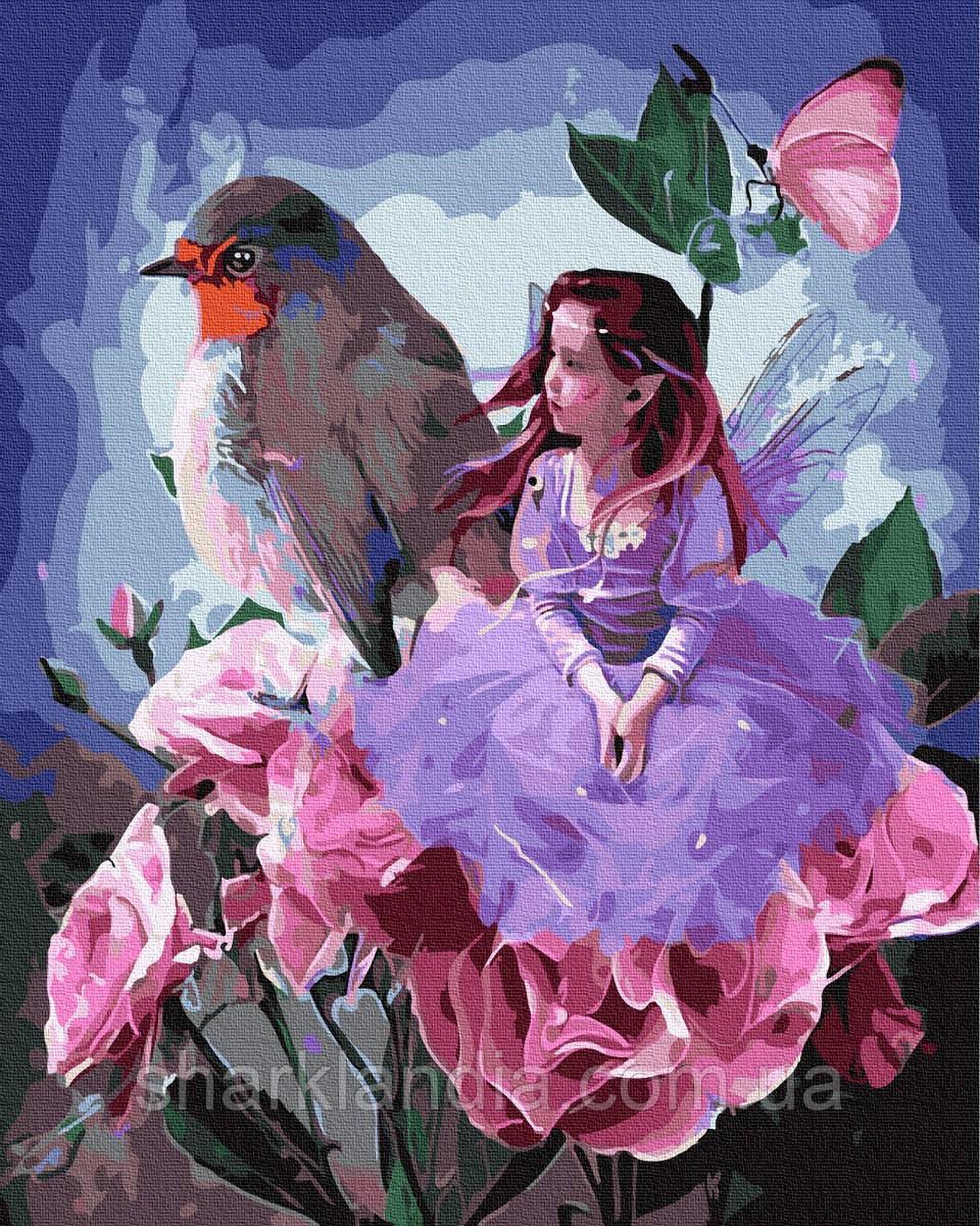 Картина за номерами Дівчинка з птахом 40х50см RainbowArt