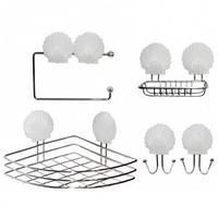 Набор аксессуаров для ванной комнаты (хромированная сталь) Besser 0526