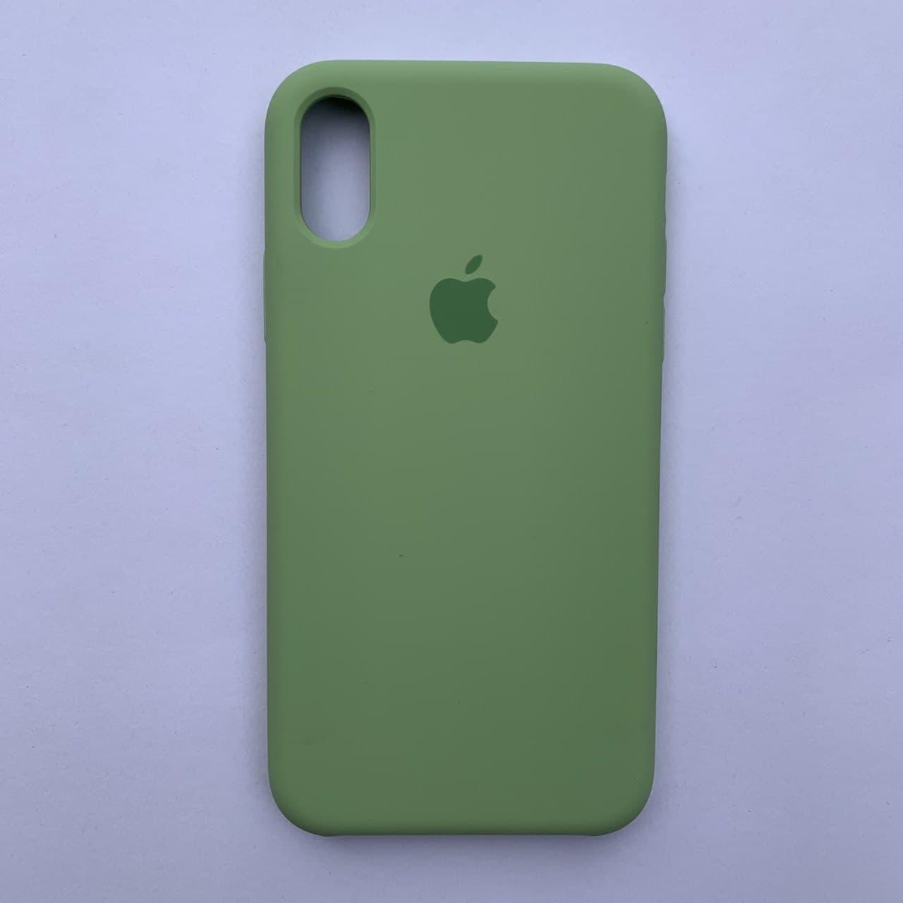 Чехол Silicone Case для Apple iPhone X, XS Mint Green