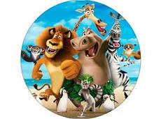 """Вафельна картинка  """"Мадагаскар"""""""