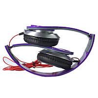 Наушники Lesko PV TM-SLL0001 Фиолетовые накладные музыкальные jack 3.5, фото 2