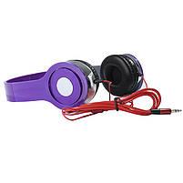 Наушники Lesko PV TM-SLL0001 Фиолетовые накладные музыкальные jack 3.5, фото 3