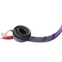 Наушники Lesko PV TM-SLL0001 Фиолетовые накладные музыкальные jack 3.5, фото 5