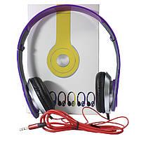 Наушники Lesko PV TM-SLL0001 Фиолетовые накладные музыкальные jack 3.5, фото 6