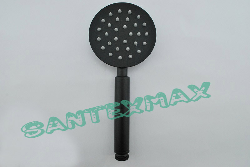 Лейка душевая Mixxus sh 01 из нержавеющей стали черная
