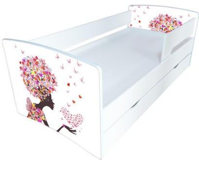 Детская кровать Kinder-Cool / Киндер-Кул 12 с защитным бортиком и ортопедическим основанием ТМ Viorina-Deko