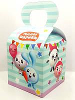 Коробочка Малышарики (Мятный) для подарков и угощений 12х10х10 малотиражные -