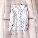 Флисовые толстовки женские с капюшоном утепленные размер 44 S цвет белый, фото 2