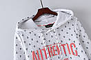 Флисовые толстовки женские с капюшоном утепленные размер 44 S цвет белый, фото 3