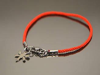 Красный браслет  от сглаза из шелка Стрекоза