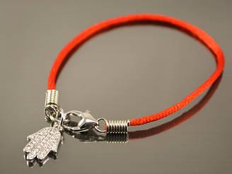 Красный браслет от сглаза с хамсой