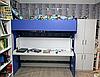 Горизонтальная 2-ярусная кровать-трансформер со столом