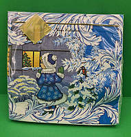 Салфетки бумажные с цветным рисунком для праздника Luxy Новогодний визит