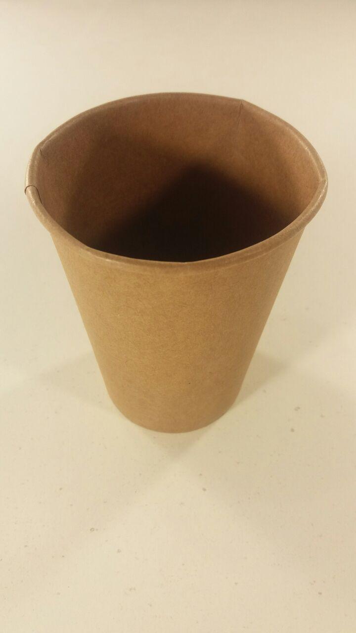 """Одноразовые бумажные крафтовые стаканы 250мл """"KRAFT"""", Маэстро, 50 шт/пач"""