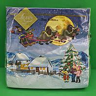 Декупажная салфетка Luxy  Козаческое Рождество