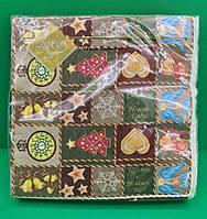 Декоративна паперова серветка Luxy Новорічний килимок