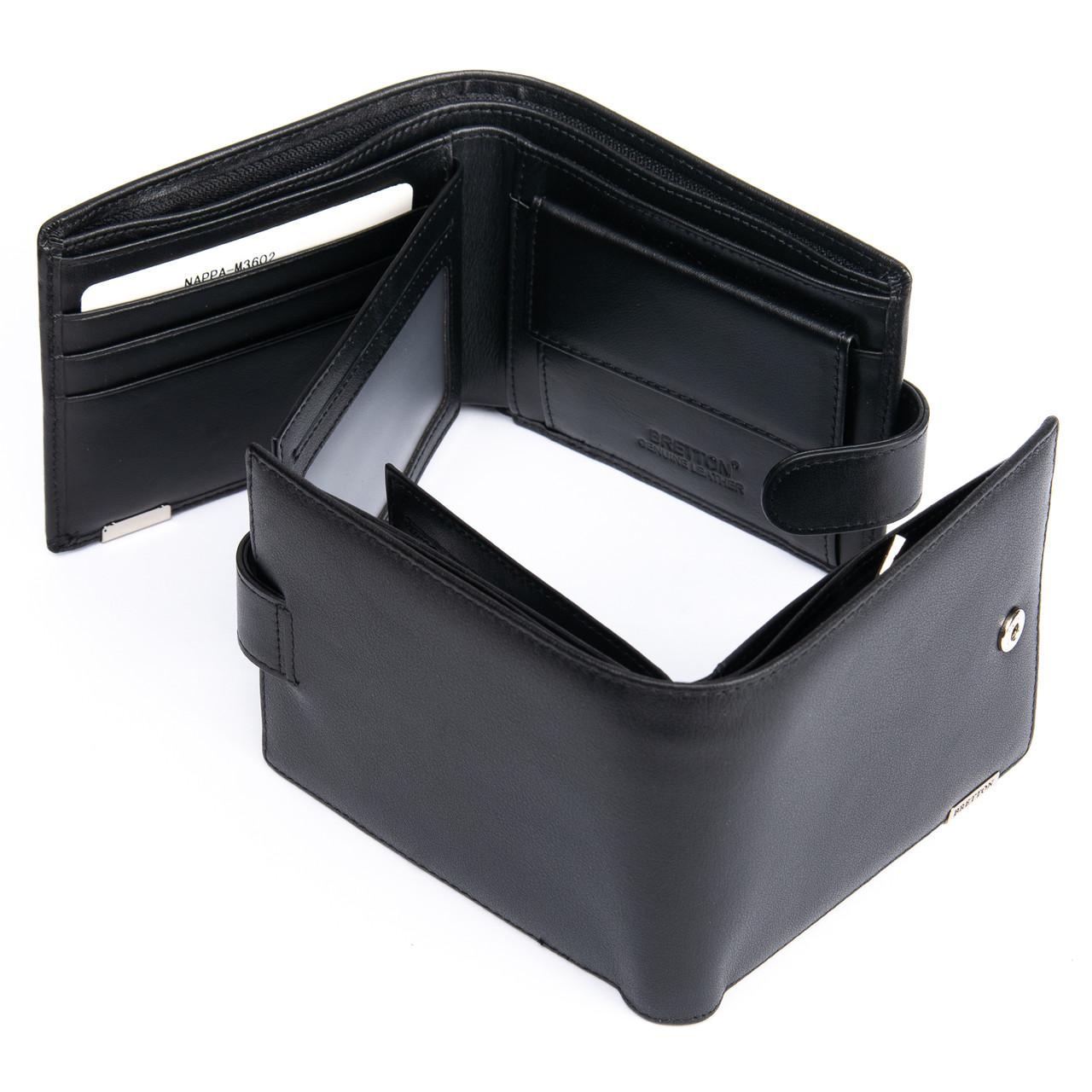 Кожаный кошелек мужской стильный Bretton M3602