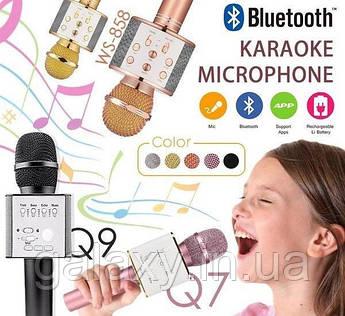 Караоке Микрофон для пения беспроводной  Bluetooth USB SD WS858