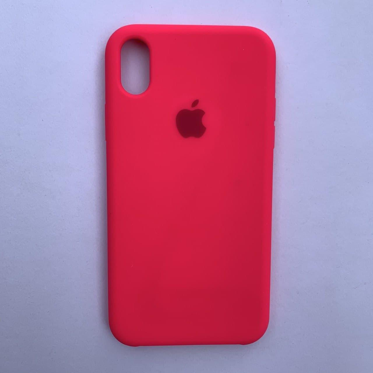 Чехол Silicone Case для Apple iPhone XR Neon Pink
