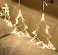 Гирлянда Штора с формами колокольчик, елка, олень 12 PCS light/ тёплый,  мульти, фото 3
