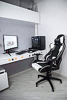 Крісло геймерське Sidlo Air White ігрове компьютерне крісло офісне розкладне крісло профеcіональне