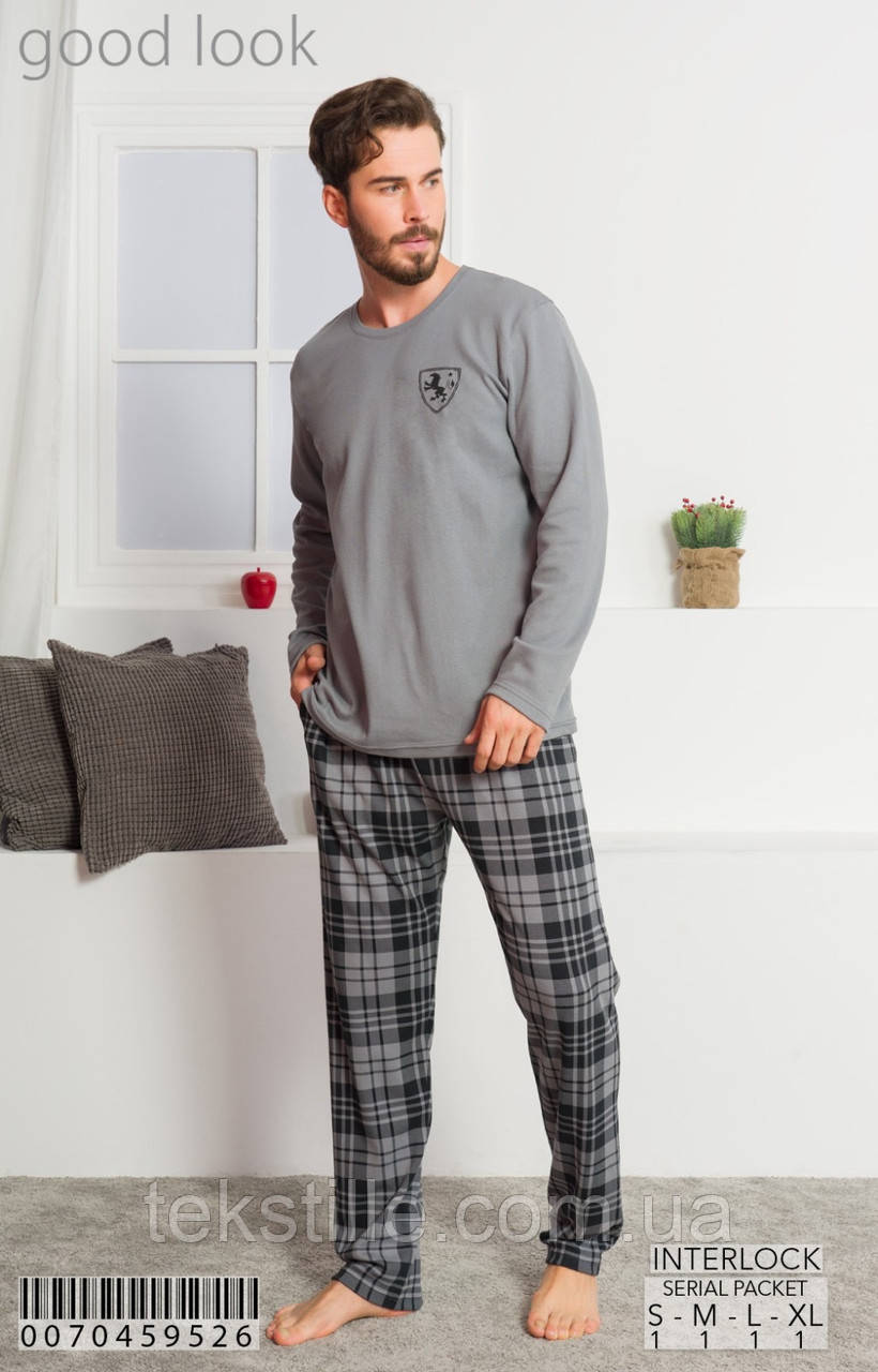 Пижама мужская трикотаж good look M