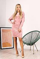 Платье из велюра размера от 42 до 48